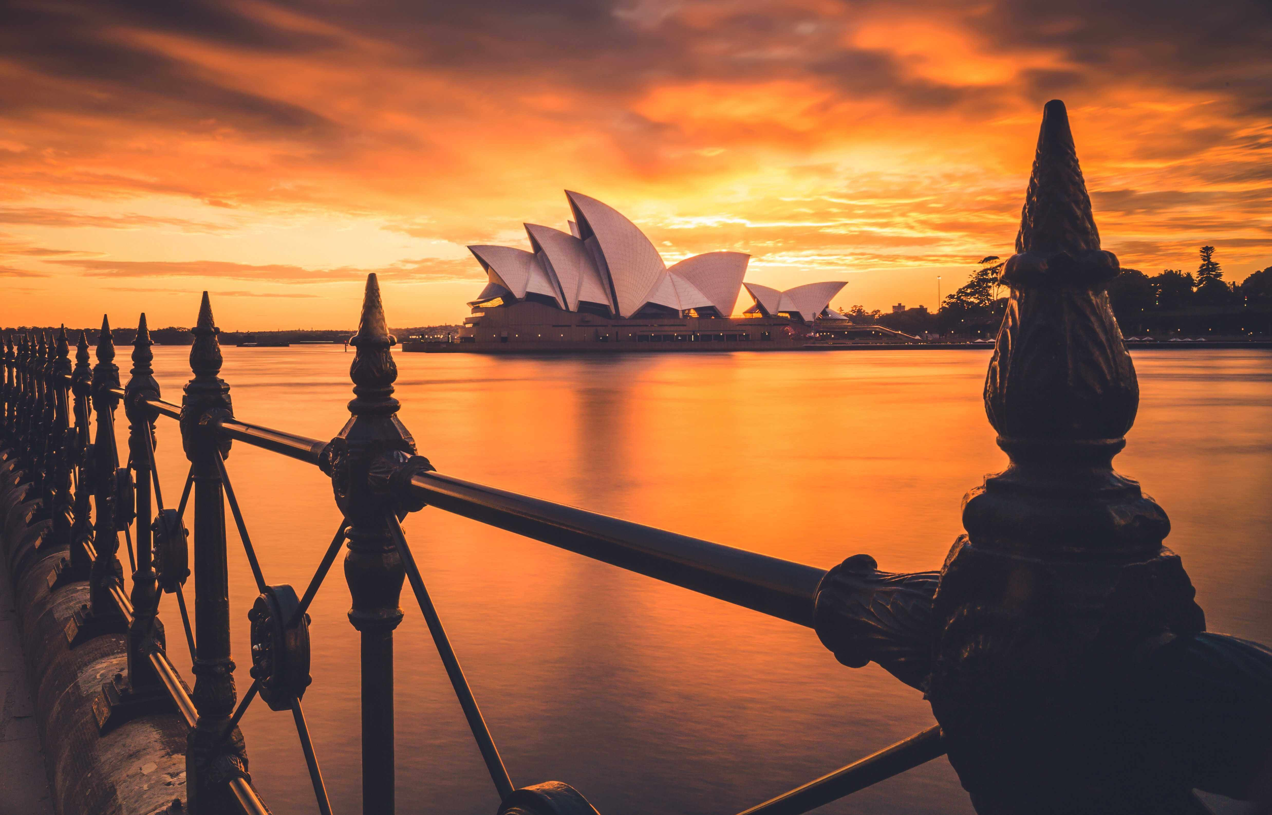 The Sydney Opera House was built in 1973 and is a UNESCO World Heritage site.